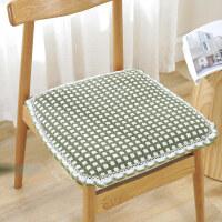 冬季加厚棉麻布艺椅子垫学生坐垫汽车座垫四季办公室凳子椅垫