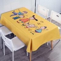 桌布布艺棉麻小清新长方形台布北欧现代简约防水防烫餐桌布