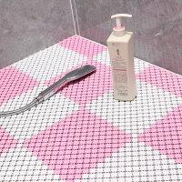 卫生间浴室防滑垫淋浴房拼接隔水垫子厕所厨房脚垫卫浴洗手间地垫 白粉配 25cm*25cm/片【48片装】