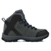 高帮登山鞋女冬季中老年厚底防滑防水运动保暖加绒大棉鞋男士