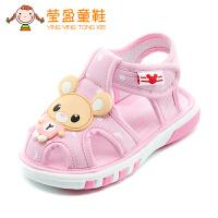 婴儿鞋布鞋叫叫鞋0-1-2岁宝宝凉鞋夏季女宝宝鞋子软底学步鞋