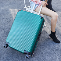 复古皮箱拉杆箱旅行箱万向轮密码箱行李箱登机箱铝框竖纹纯色