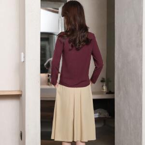 风轩衣度 套装/套裙舒适修身纯色气质韩版简约宽松休闲修身纯色2018年春季新款 G08