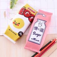 韩版创意零食笔袋韩国简约女初中学生小清新可爱新文具盒学习用品