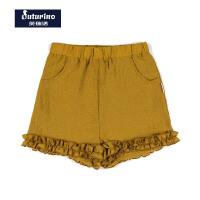 【3件2折后:49.9元】芙瑞诺童装女童夏装2020夏季新品三色花边休闲短裤
