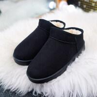 2018新款冬季保暖雪地靴短靴女靴防滑休闲平底青年女鞋加绒短筒潮