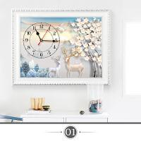 欧式电表箱装饰画带钟表现代简约家居饰品挂画电闸箱遮挡箱装饰盒