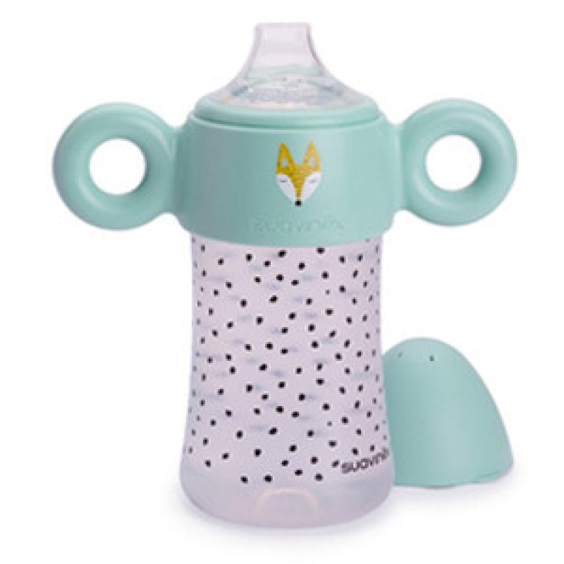20180824123604880宝宝学饮杯防摔进口硅胶防漏鸭嘴儿童婴儿喝水杯a121