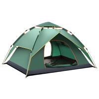帐篷户外3-4人全自动二室一厅家庭双人2单人野营野外露营