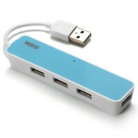SSK飚王 4口HUB 口琴SHU026 USB2.0 HUB 一拖四 4口集线器 分线器
