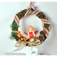 创意家居可爱儿童房装饰品天使吊脚娃娃树脂窗台小摆件工艺品仙子