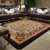 地毯客厅欧式茶几 长方形毛毯卧室床前地毡家用婚庆简约现代 037 棕色