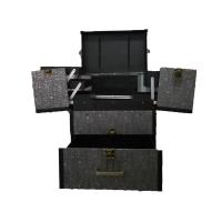 拉杆化妆箱带镜手提大容量美甲纹绣美容美发跟妆半工具箱化妆箱化妆品收纳盒
