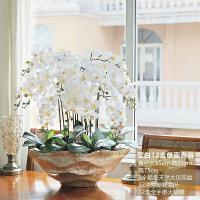 20190107063854578和家超大全手感蝴蝶兰盆栽 仿真花套装 假花卉玄关客厅摆件装饰品