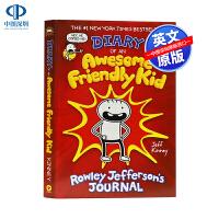 英文原版 好孩子日记 Diary of an Awesome Friendly Kid 小屁孩日记作者 杰夫・金尼 Je