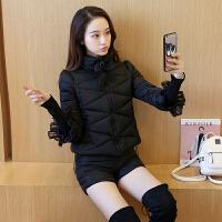 2018冬装新款女韩版羽绒棉衣短款外套时尚短裤两件套装