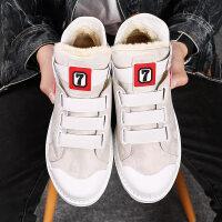 马丁男鞋韩版潮流英伦雪地靴中帮短靴秋冬高帮靴子2018新款男靴
