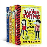 英文原版 The Tapper Twins 4册合售 一个关于网上名声和耻辱的笑料故事 中小学课后阅读英语书内容幽默提高儿童的学习乐趣 9-12岁