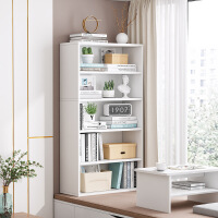 【爆款】书架简约落地飘窗小书柜子收纳储物柜组合阳台简易家用多层置物架