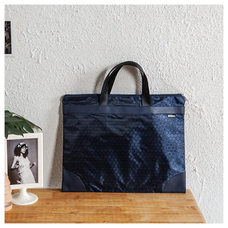 M&G晨光 ABBN3047 球纹手提包(蓝)当当自营
