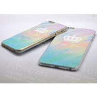 超薄超�p iPhone6 plus 5.5寸 磨砂硬�� 保�o套 手�C�� 背�� 彩��