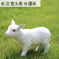 仿真羊装饰摆件树脂动物工艺品可爱生肖小羊户外花园装饰庭院摆件