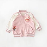 秋季婴幼儿男女宝宝可爱刺绣外套夹克儿童面包超人棒球服qg