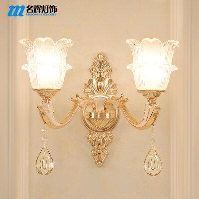 欧式壁灯客厅壁灯水晶壁灯过道墙壁灯卧室床头壁灯背景墙壁灯