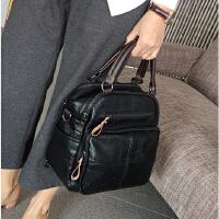 女包手提包2018春夏新品复古双肩包简约时尚两用背包单肩斜挎包潮SN4099