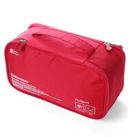 内衣收纳包 旅行出国分隔收纳袋 防水整理袋 双层内衣袋