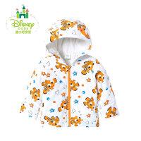 迪士尼Disney婴儿外套拉链衫加厚连帽外套上衣保暖秋冬款164S872