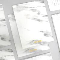 北欧大理石纹文件夹A4双强力夹子办公用品资料夹板插页册功能单夹