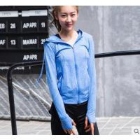 新款连帽速干健身房瑜珈服长袖时尚运动跑步外套瑜伽服上衣