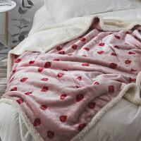 双层加厚珊瑚绒毯子法兰绒被子沙毯女办公室单人午睡盖腿小毛毯定制!