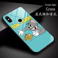 动漫卡通小米8青春版手机壳红米note7玻璃壳小米9搞怪个性mix3趣味可爱创意插画9se硅胶软套男