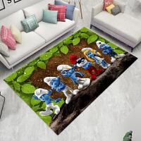 家用地中海客厅地毯沙发茶几垫儿童卡通3d地毯卧室床边地垫可机洗