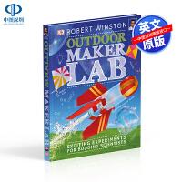 英文原版 DK系列 STEM大课题 户外实验室 Outdoor Maker Lab 精装 科学实验知识百科 少儿科普 儿