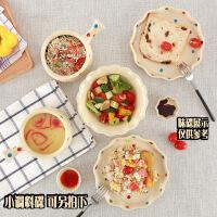 波点碗套装碗陶瓷碗碟餐具碗盘套装家用碗具早餐盘子