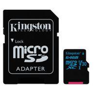 Kingston金士�Dtf卡64GB 90M TF Micro SD卡 64G手�C�却婵�U3 C10 V30 �x速90M