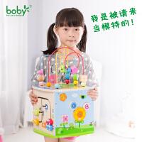 0-1-2-3周岁以下宝宝婴儿多功能绕珠百宝箱儿童串珠积木玩具