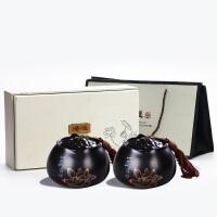 定制手�L山水茶�~罐子陶瓷普洱密封罐大��ξ锊韪装��b�Y品空盒