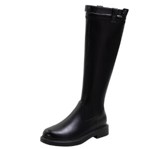 WARORWAR法国新品YG09-533冬季韩版反绒粗跟鞋高跟鞋女鞋潮流时尚潮鞋百搭潮牌靴子切尔西靴短靴