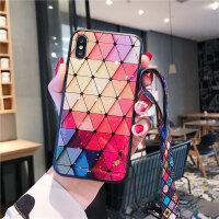 苹果x手机壳网红iphone xs max女7plus6s新挂绳七xr六xs防摔8