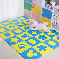 儿童卧室拼接爬行垫拼图地板垫子加厚宝宝爬爬垫泡沫地垫榻榻米 40片装 送边条