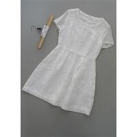 拉[N63A-300]专柜品牌2598正品亚麻桑蚕丝女装连衣裙0.33KG