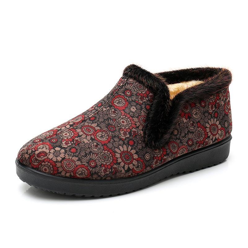 老北京布鞋女平跟棉鞋防滑软底中老年人女妈妈鞋秋冬保暖大码女鞋