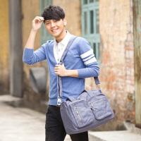 吉野新款韩版男包复古休闲帆布包时尚运动大包包手提包男士单肩包斜挎包大容量多功能旅行跨包
