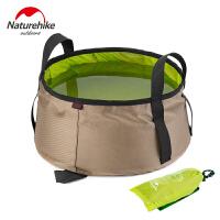 旅行户外水桶洗脚盆 可装热水轻便折叠水桶户外洗脸盆