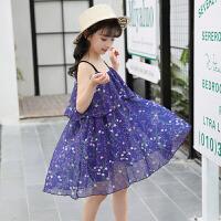 女童�B衣裙夏�b新款童�b�n版�和�吊��沙�┤寡�馀�孩公主裙子