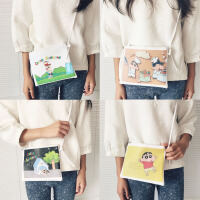 韩国韩版软妹原宿女包 可爱卡通小新斜挎包 单肩包手拿包